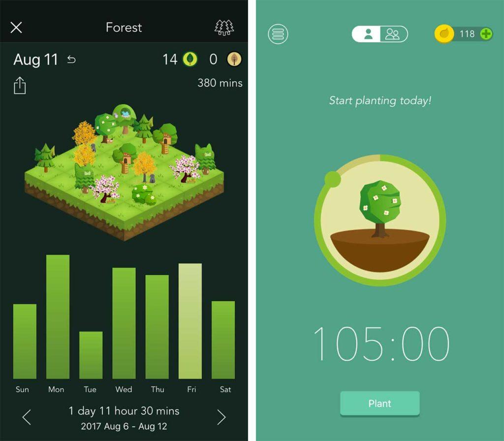 Forest app Screenshot